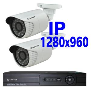 Комплект IP-видеонаблюдения для улицы