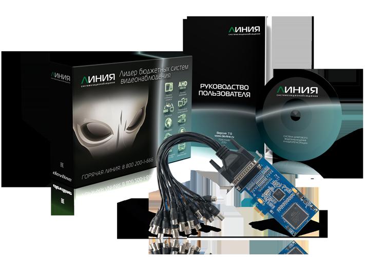 Плата видеозахвата Линия Effio 8x25 Hybrid IP