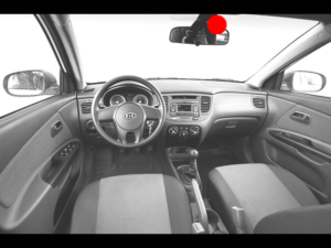 видеокамера в машине спереди