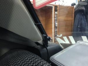 Установка видеокамеры в учебном автомобиле сзади