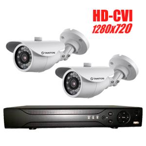 Комплект видеонаблюдения CVI для улицы